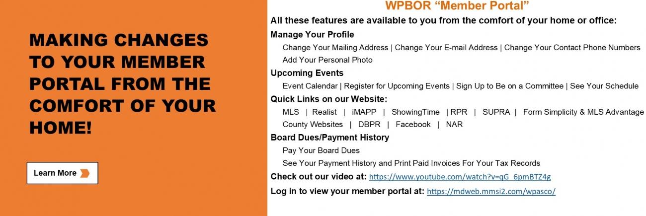 WPBOR_Website_Slider_Member Portal Information